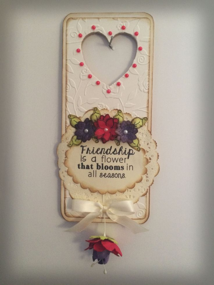 Dreamees, Heart mdf doorhanger using  flower shower stamp set