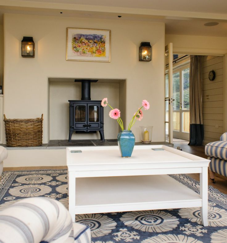 Cosy wood burner. Trebarwith Strand - Luxury Self-Catering | Cornwall