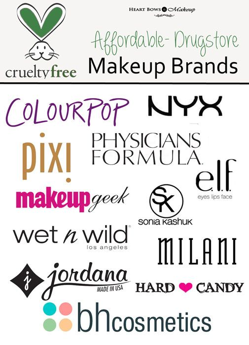 Cruelty Free Drugstore Makeup Brands -Please note BH Cosmetics may not be cruelty free - better safe than sorry!