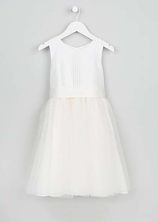 Girls Pintuck Bridesmaid Dress (3mth-13yrs) View 1