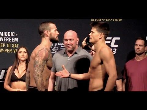 CM Punk vs. Mickey Gall - UFC 203 Weigh-in