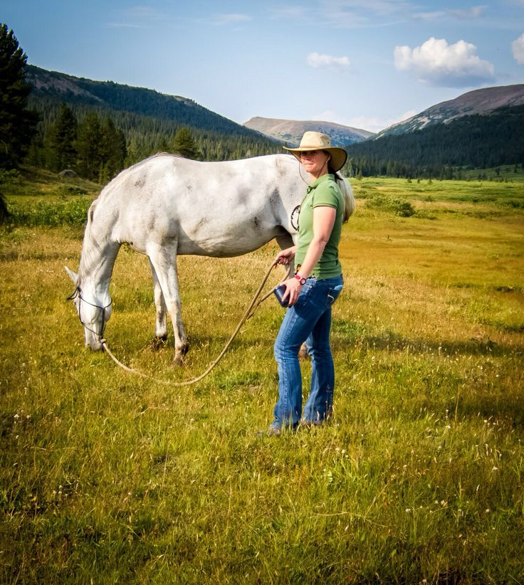 Drs Jessica Wales from Panorama Veterinary Services. In Tweedsmuir Wilderness Park. Northern bc Canada. We Know Horses!