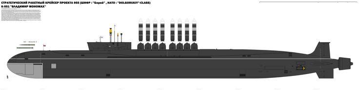 Russian VLADIMIR MONOMACH Strategic Submarine by RADMRockstone.deviantart.com on @DeviantArt