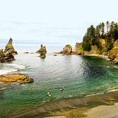 Olympic National Park, Washington The easy 3-mile (one-way) hike to Shi Shi Beach, near Neah Bay, is best made at low tide