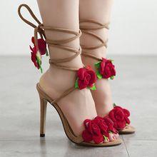 2017 mode Frau Weibliche Gladiator Sandalen Handmade Floral Cross Gebunden Flachen Strand Stiefel Zapatos Mujer Chaussure Femme Alias(China (Mainland))