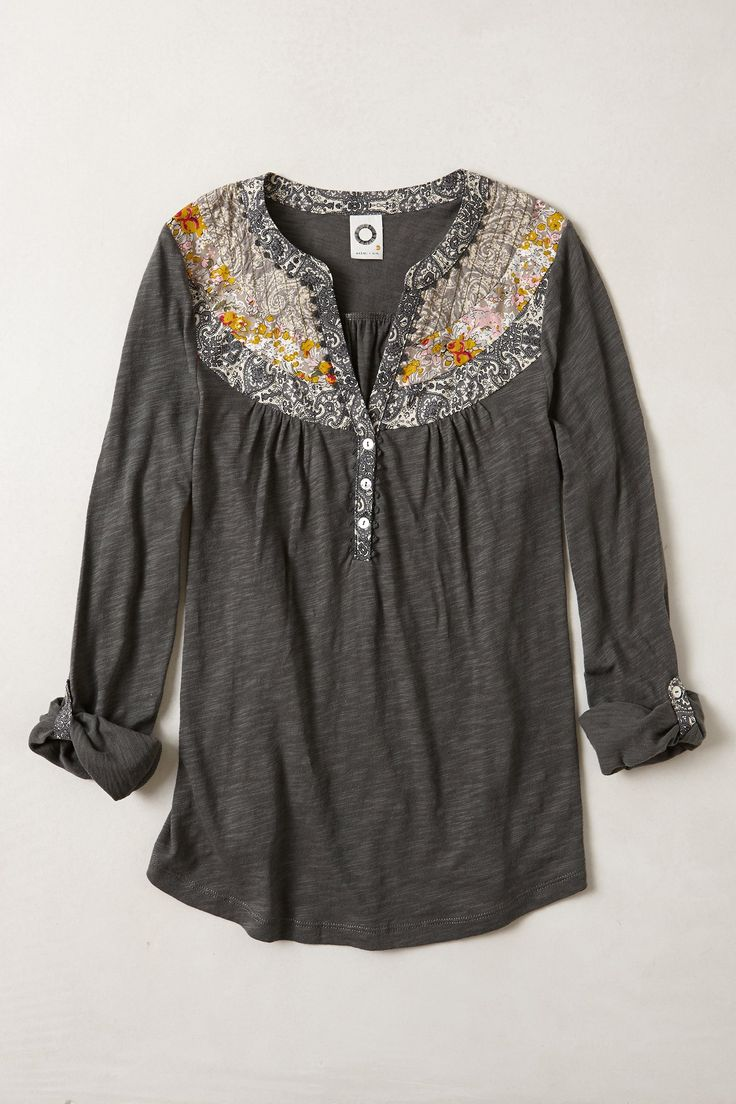 caroline henley - anthropologie.com Interesting possibility for upcycling a men's shirt