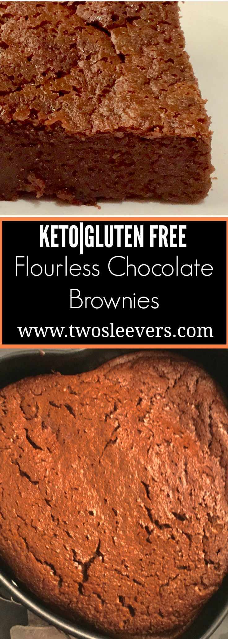 Five Ingredient Keto Flourless Chocolate Brownies  Five Ingredient Keto Flourless brownies are moist, delicious, and have 3 gms of carbs per serving. These taste just like the real thing! Two Sleevers