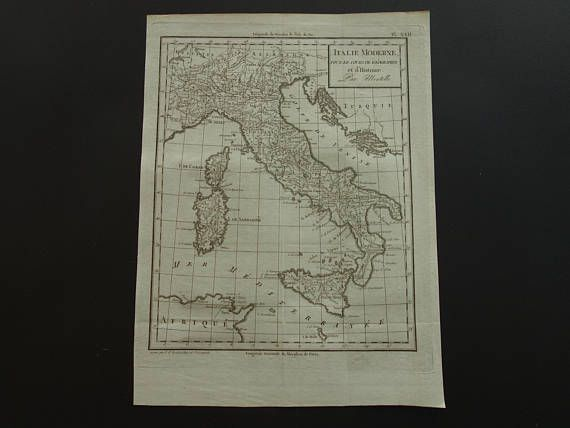 ITALY old map of Italy 1804 original 200 years old antique