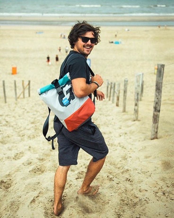 Living the beach dream. Stay sunny! #thinksea #backpack #travelbag #reuse #recycle #unique #urbanfashion #handcraft #summertime #madeingreece #paros #parosurfclub #windsurf #kiteboarding #sail #beachlife #surfana