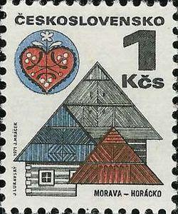 [][][] Czechoslovakia. Folk Architecture. Morava - Horácko. 1971.