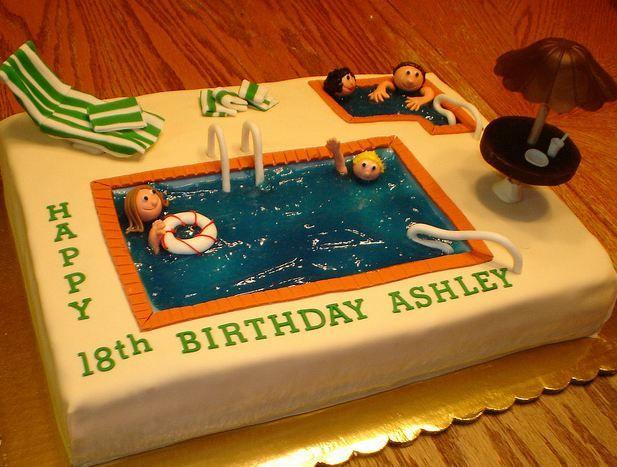 Swimming Pool Birthday Cake Entrancing Swimming Pool Cake Designs .