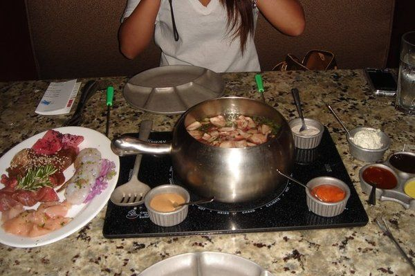 """Theme Restaurants Copycat Recipes: The Melting Pot  I made this tonight and my kids kicked and screamed about having fondue.  By the end of the meal it was """"When are you going to make this again?"""""""