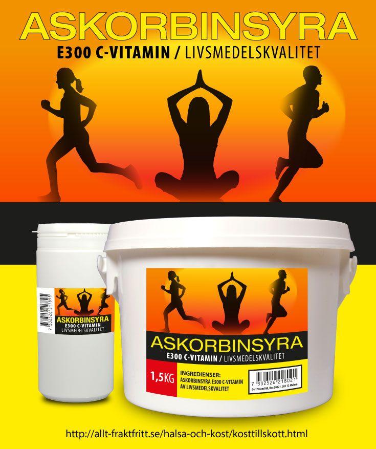 Askorbinsyra har många användningsområden förutom att det är C-vitamin.