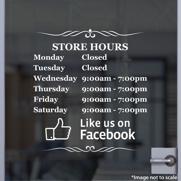 Store Hours  | Stickertitans.com | Custom Business / Office / Shop / Salon / Restaurant Open Hour Vinyl Decal | Hours of Operation | Our Vinyl Signs are made from Oracal 651 | 470-585-2229