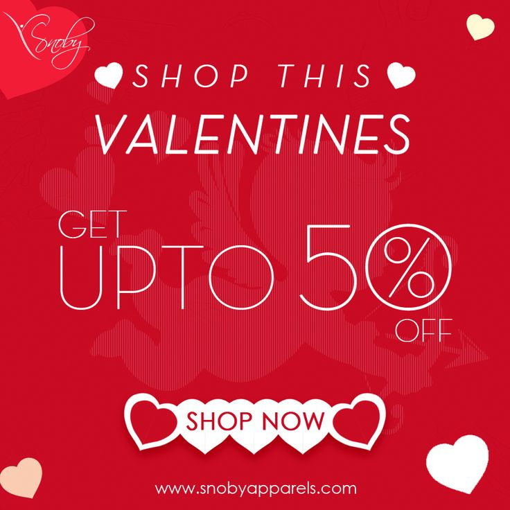Get alluring look for a romantic memory on this #valentine's day. Shop and Save Up to 50% on all #fashion wears and accessories.  Lovely #Valentine's Day Deal! snobyapparels.com