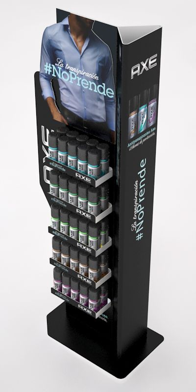 Point of Sale | Health & Beauty Point of Purchase Design | POP | POSM | POS | POP |Axe Mito Display Kit by Ricardo García at Coroflot.com