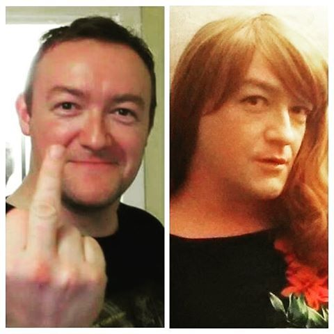Not a proper before and after but these pics are my current Facebook profile pics for my respective personas. I just think it's funny seeing them side by side 😄 #crossdress #crossdresser #crossdressing #annasecretpoet #mtf #maletofemale #tg #tgirl #trans #transvestite #genderfluid #girlslikeus #femboy #ginger #auburnhair #redhead #beforeandaftertransformation #beforeandafter #genderbender #boytogirltransformation #lgbt #transisbeautiful #femboy #sissy #transformationtuesday