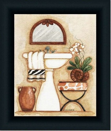 Safari Iii Zebra Giraffe Bath Room Decor Print Framed: Part 63