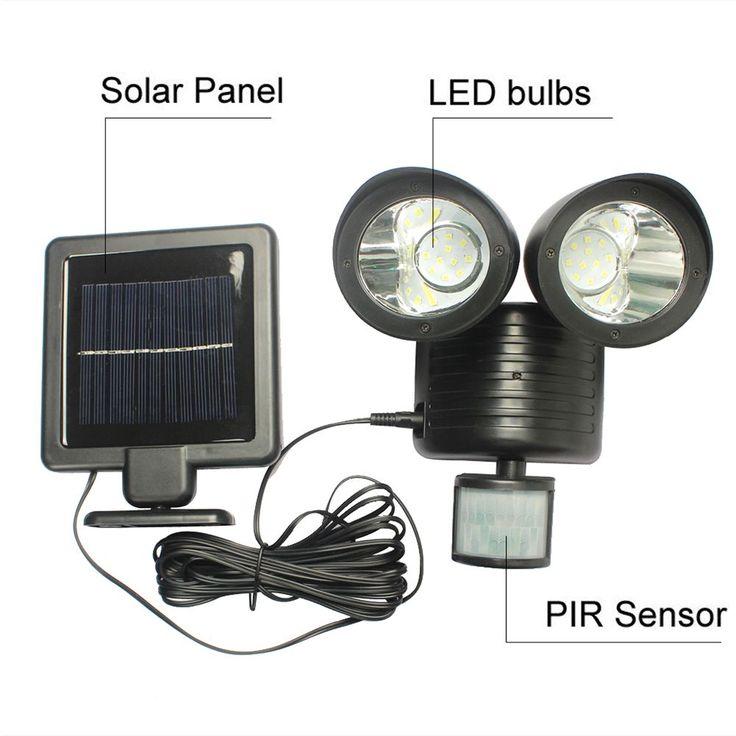 Solar Powered LED Motion Sensor Security Lighting For Outdoors