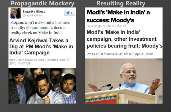 """While adarsh liberals were churning out propagandas to mock """"Make in India"""", PM Modi was busy working on it."""