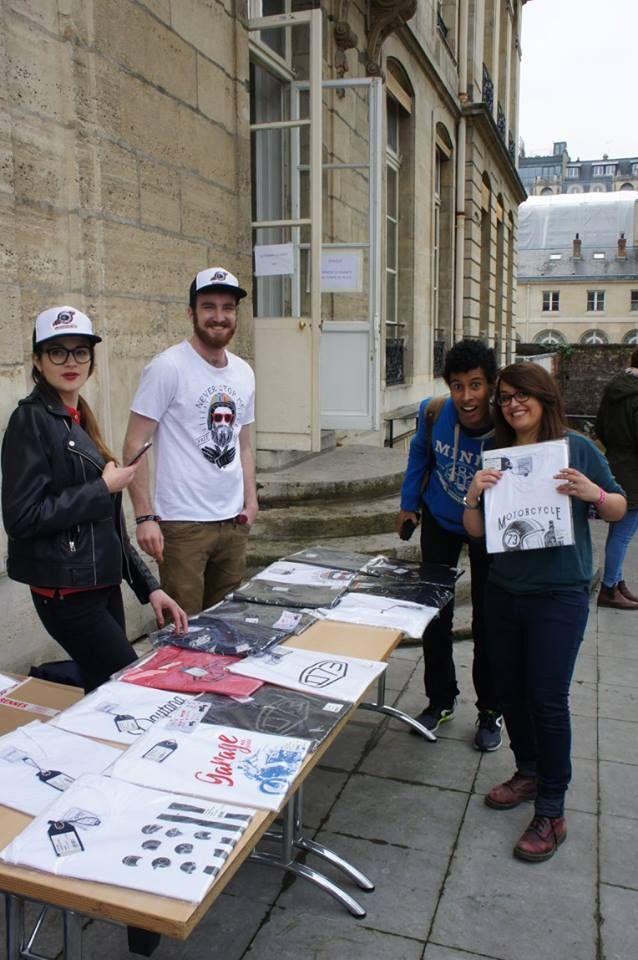 Vente de t-shirts Daytona 73 effectuée par la liste BDE Cosmin'autes de l'école des Mines Paris Tech