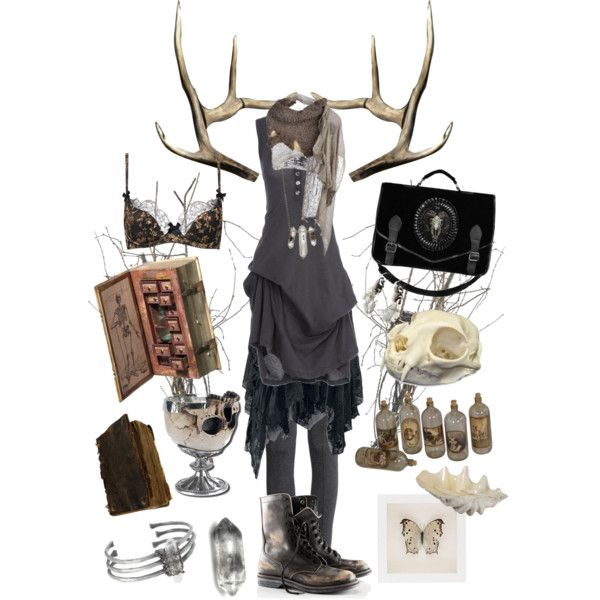 Dark Mori - Magpie by bloodmoonsuccubus on Polyvore featuring Mode, Ann Demeulemeester, H&M, Agent Provocateur, Unearthen, Zoë Chicco, Cutuli Cult, GuildMaster, BYRON and OBEY Clothing
