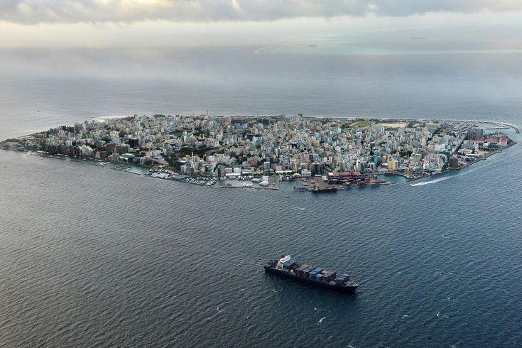 L'île de Male, la capitale des Maldives, enseptembre2013.