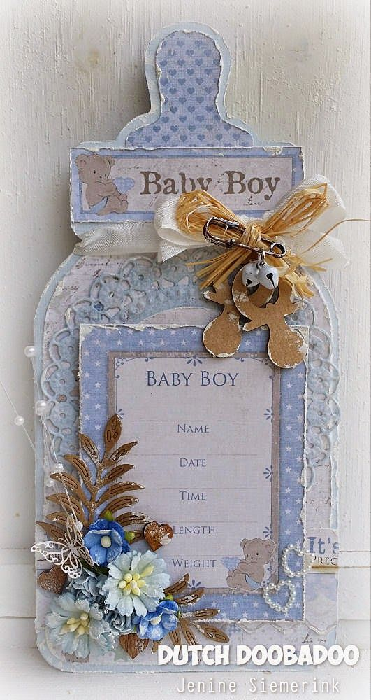 Jenine's Card Ideas: Dutch Doobadoo - Babyfles Boy