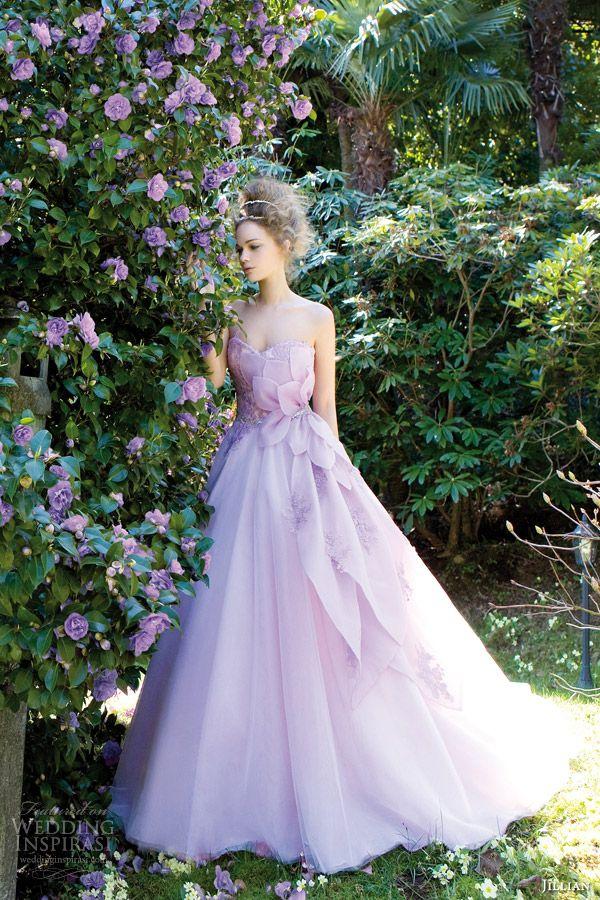 jillian sposa 2014 azalea strapless color wedding dress purple lilac lavender style 95814