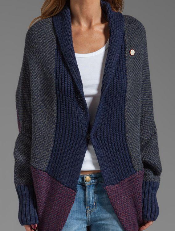 chunky knit oversize shrug sweater