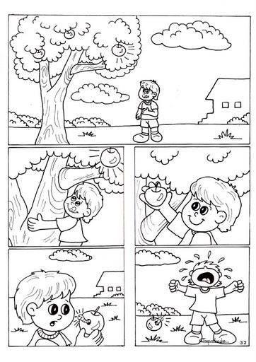 Bajar manzana de árbol