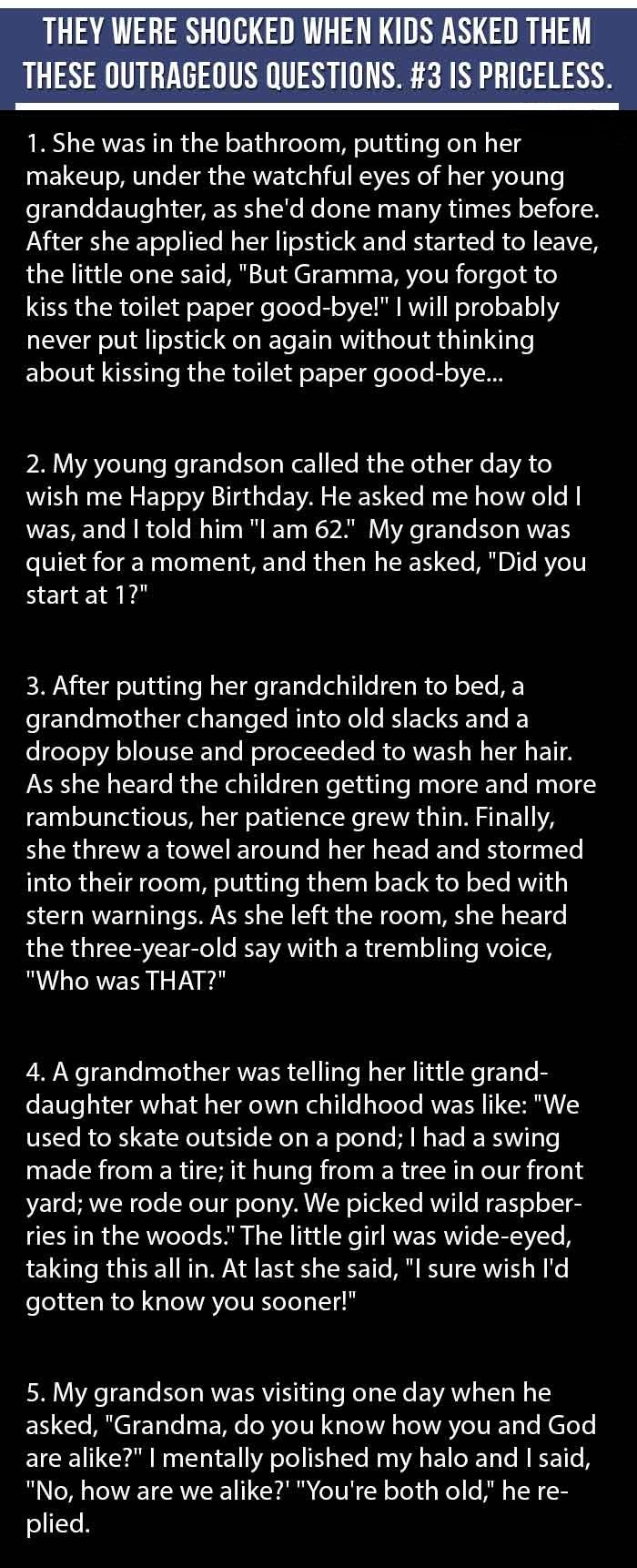 They Were Shocked When Their Grandkids Asked Them These Crazy Questions.