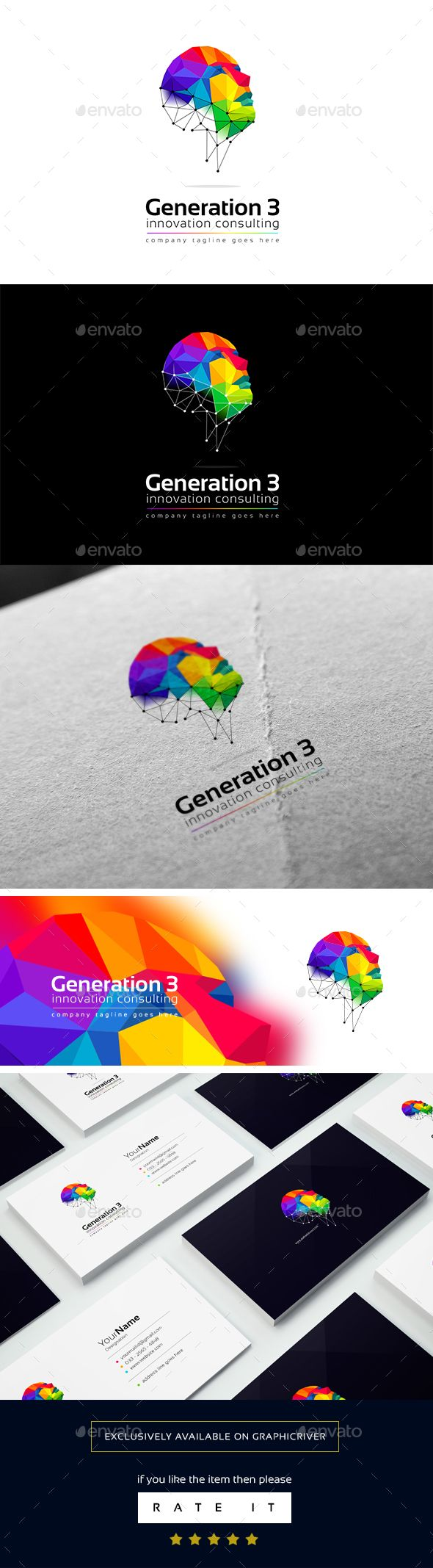 Generation 3 logo template — Vector EPS #studio #it • Available here → https://graphicriver.net/item/generation-3-logo-template/16277385?ref=pxcr