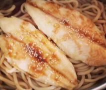 Varoma Teriyaki Style Fish & Udon Noodles with steamed veggies
