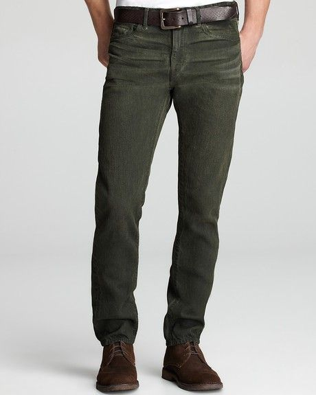 Colored Levi Jeans for Women   Levi's Tack Slim Jeans in Green for Men (moss green) - Lyst