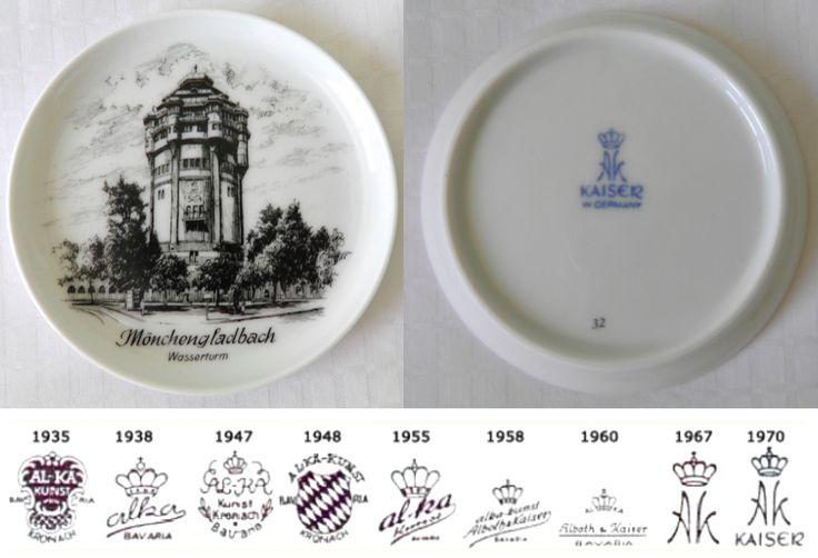 AK KAISER West Germany Porcelain China Wasserturm Monchengladbach German Tourist Souvenir China Trinket Pin Dish Coaster  sc 1 st  Pinterest & The 7 best wade pottery images on Pinterest | Dish Plates and ...