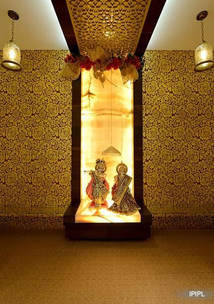 272 best pooja room design images on pinterest pooja rooms prayer room and hindus for Design of mandir in living room