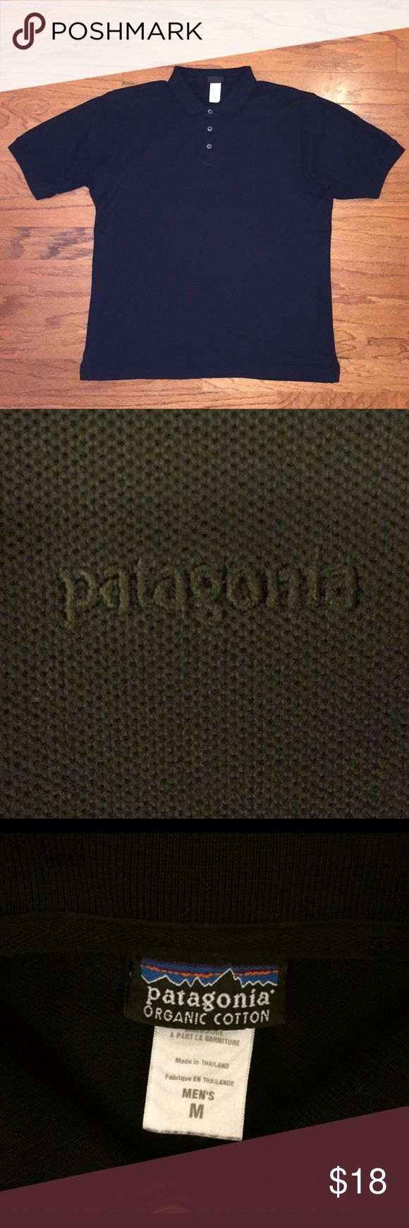 Patagonia, Black, Pique Polo, Organic Cotton Very good condition, gently worn, medium, black pique, made of organic cotton...excellent quality. Bundle for discount! Patagonia Shirts Polos