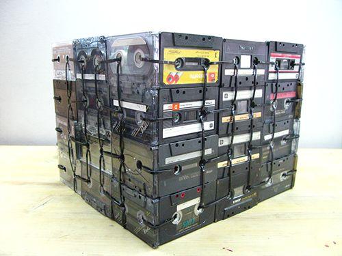 DJ K7 - cassete/luz/candeeiro/reutilizar/design/decor/lights/reuse/music cassette