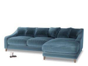 Oscar sofa in Brighton Blue Velvet, available from Loaf.