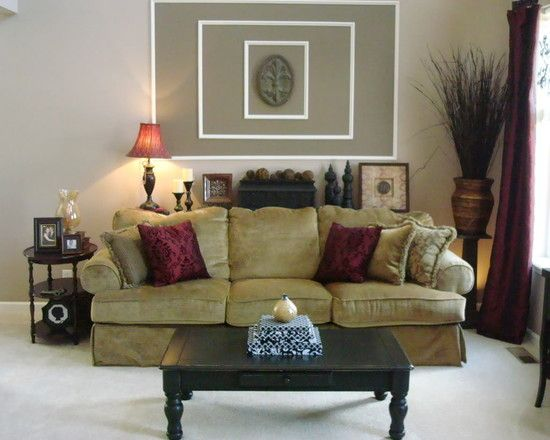 1000 images about burgundy family room ideas on pinterest for Living room ideas with burgundy sofa