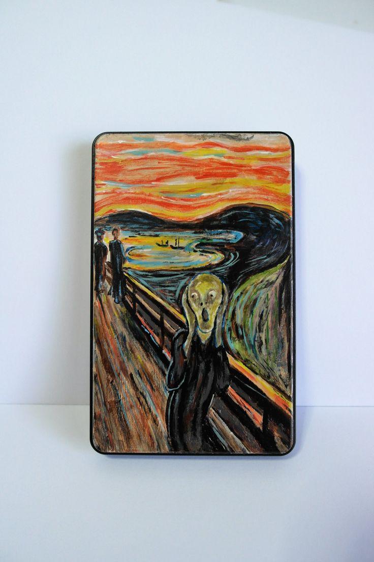 """Carcasa para disco duro 2.5"""" sata, usb 3.0. Personalizada con un cuadro clásico """"El grito"""" de Munch de ARTECHNOLOGY en Etsy"""