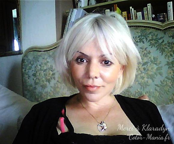 coloration cheveux blancs klaradyn pour color maniafr - Dcoloration Cheveux Colors