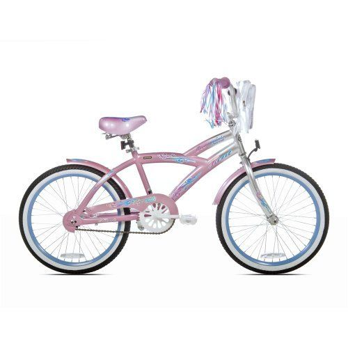 Kent Girls Peppermint Swir Bike (20-Inch Wheels) by Kent. $95.47. Comes With Front Activated Coaster Brake/ Front Hand Brake/ Front Shock. Assembly Required. Dimensions: 50in L x 24in W x 36in H/ Weight: 36 lbs. Features a Sturdy Wishbone Style Frame in Pink. Includes Padded BMX Saddle/ 20in Wheels. 20 Wheels. Wishbone style frame. Foot activated coaster brake padded BMX saddle. Front mounted pack style bag.. Save 20% Off!