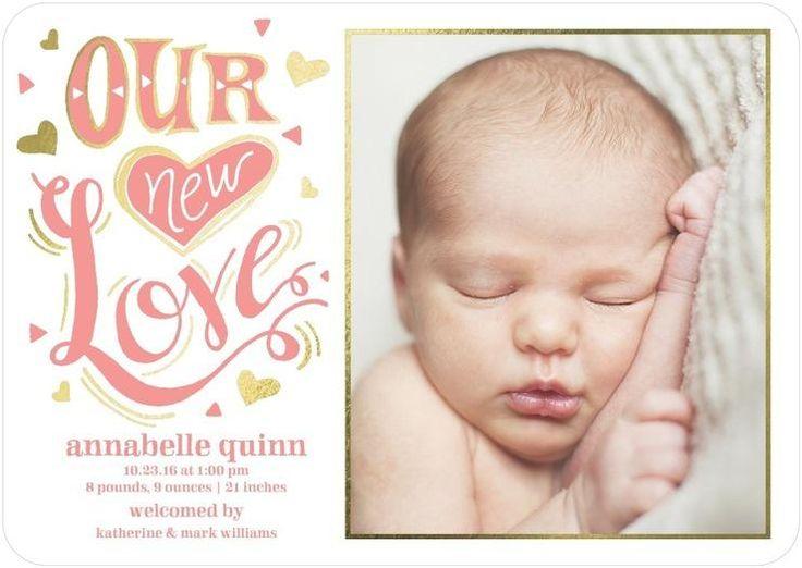 324 best Birth Announcements images – Unique Birth Announcement Cards