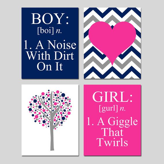 325 best kids wall art images on pinterest kid wall art baby girl boy girl shared bedroom art decor boy definition chevron heart tree dot girl definition set of four 8x10 prints choose your colors voltagebd Choice Image