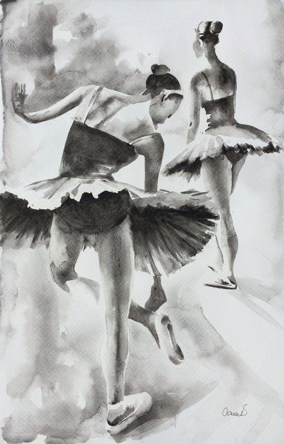 En pintura de la ACUARELA ORIGINAL de las alas por AimeeDelValleArt