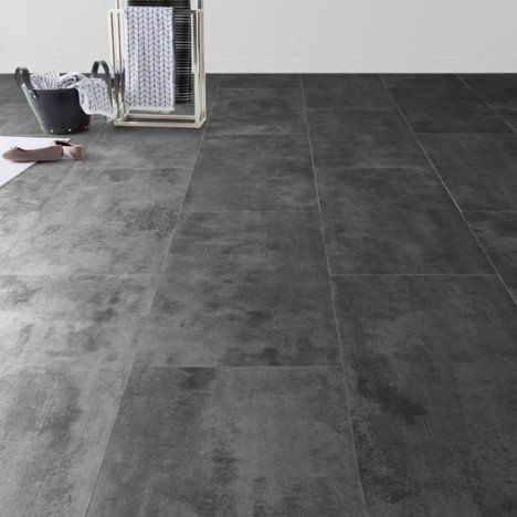 Dalle PVC clic zinc ARTENS zinc métal, 65.5 x 32.4 cm