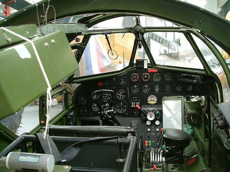 Bristol Blenheim - a view of the cockpit - RAF - World War 2