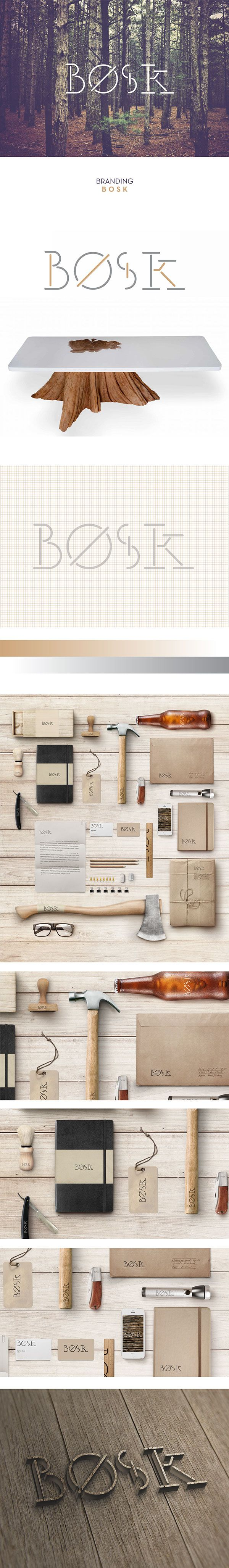 Bosk on Behance by Diogo Pisoeiro curated by Packaging Diva PD. Gorgeous wood…